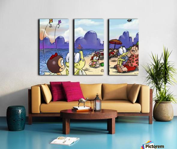A Dream of Summer - Kites Split Canvas print
