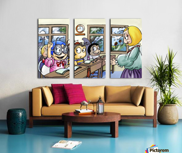 School Days - Classroom Split Canvas print