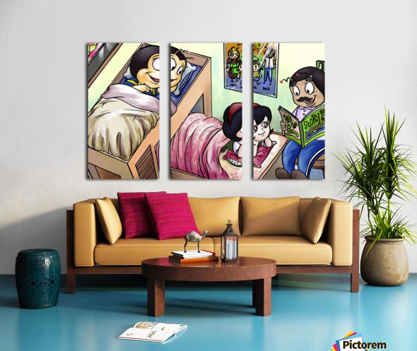 Sleep Over Split Canvas print