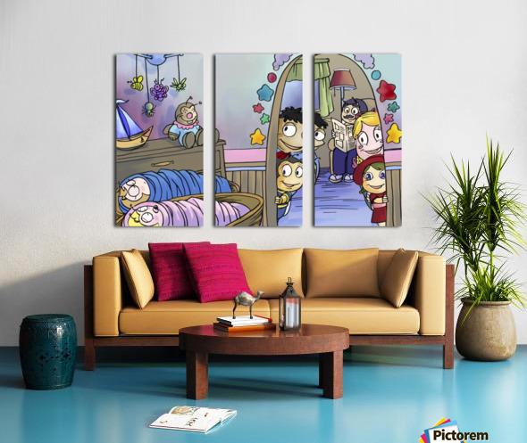 Twins - Baby nursery - Bugville Critters Split Canvas print