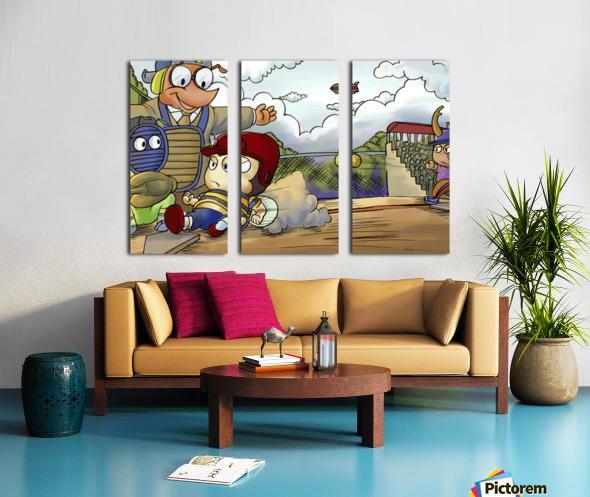 Home base slide Split Canvas print