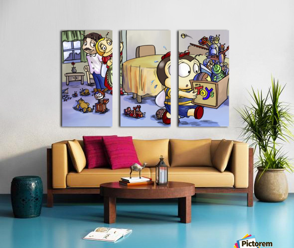 Toy Parade - marching Split Canvas print