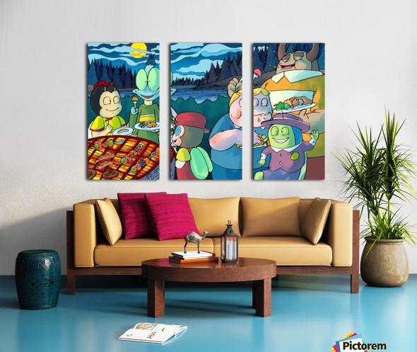 Summer Camp - Cookout - Bugville Critters Split Canvas print