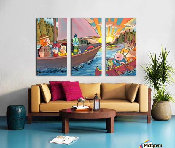 Summer Camp - Sailing Split Canvas print