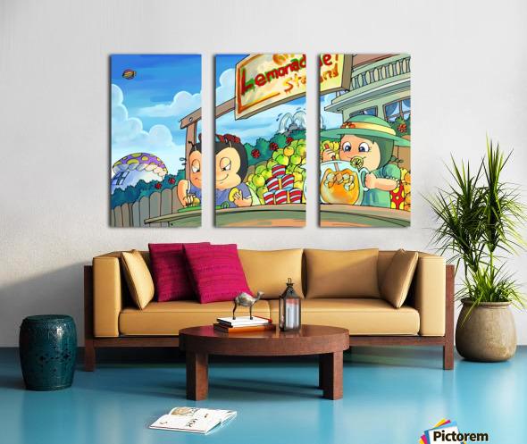 Lemonade Stand - Bugville Critters Split Canvas print