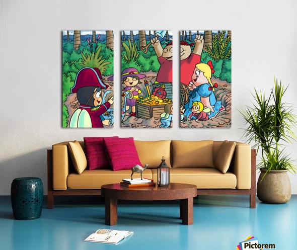 Hidden Treasure - Pirates - Bugville Critters Split Canvas print