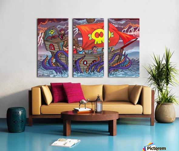 Sea Monster Split Canvas print