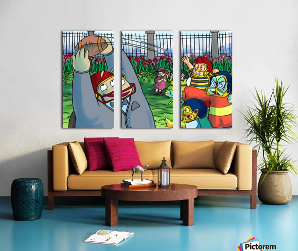 Football With Friends Split Canvas print