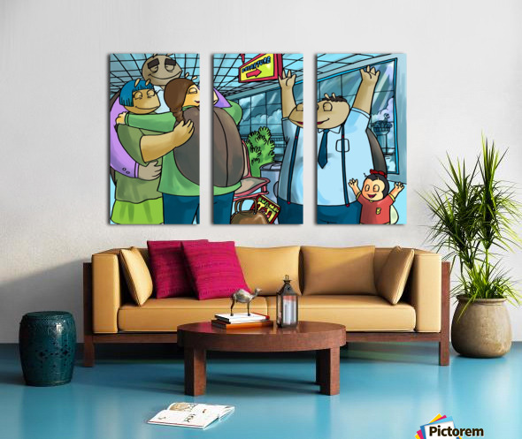 Back to College  Split Canvas print