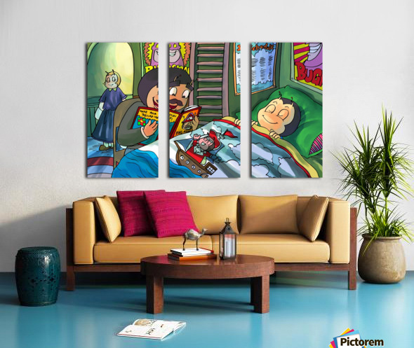 Bedtime stories - Bugville Critters Split Canvas print