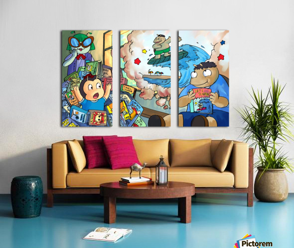 Library Daydreams 2 Split Canvas print