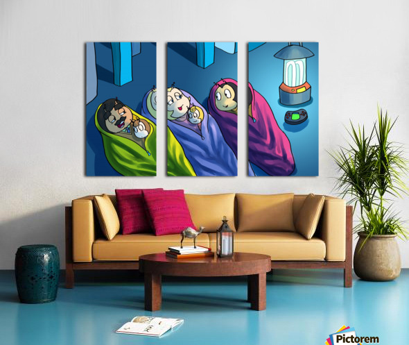Staying In - Bedtime Split Canvas print
