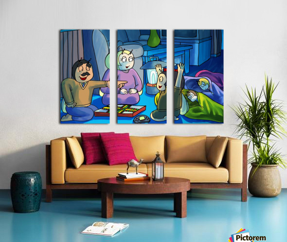 Staying In - Power outage Split Canvas print