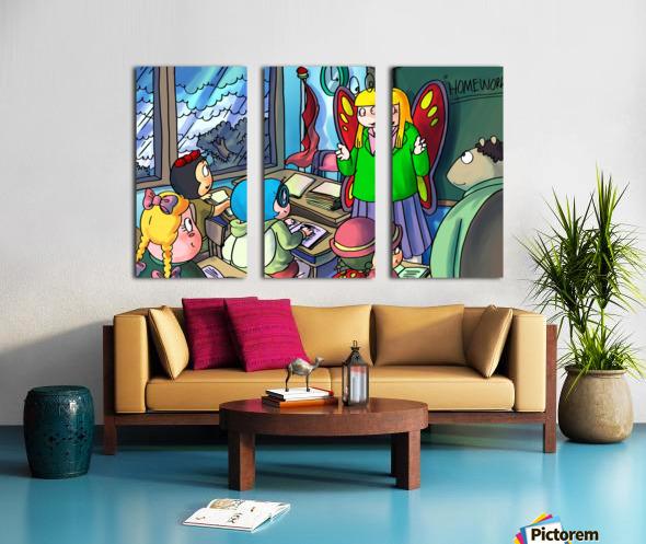 Classroom - Bugville Critters Split Canvas print