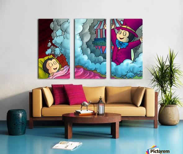 Circus Dreams Split Canvas print