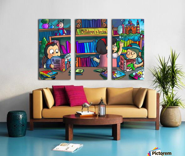 Library - Bugville Critters Split Canvas print
