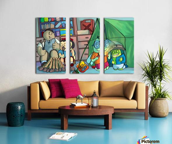 Blanket Fort  Split Canvas print