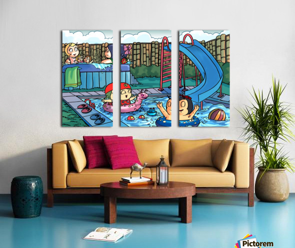 Pool Party - Bugville Critters Split Canvas print