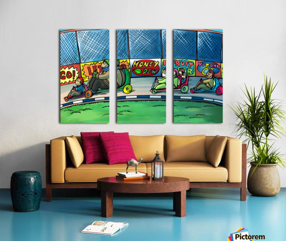 Go Karts Split Canvas print