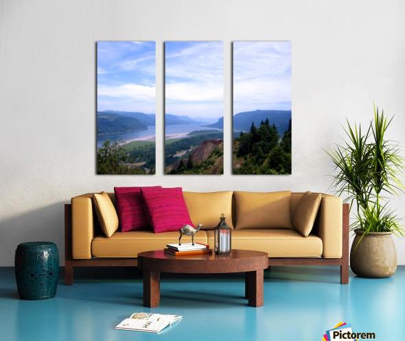 The Gorge   Columbia River Split Canvas print