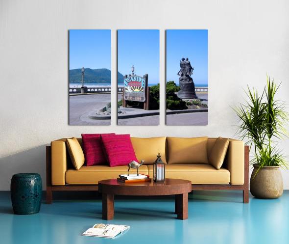 Seaside Oregon   Snapshot in Time Split Canvas print