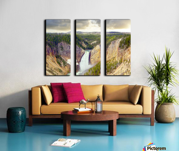 Mighty Yellowstone - Grand Canyon of the Yellowstone River - Yellowstone National Park Split Canvas print