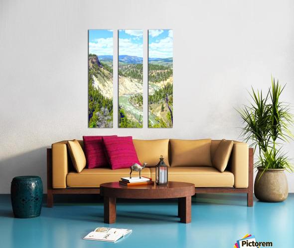Wild Yellowstone Split Canvas print