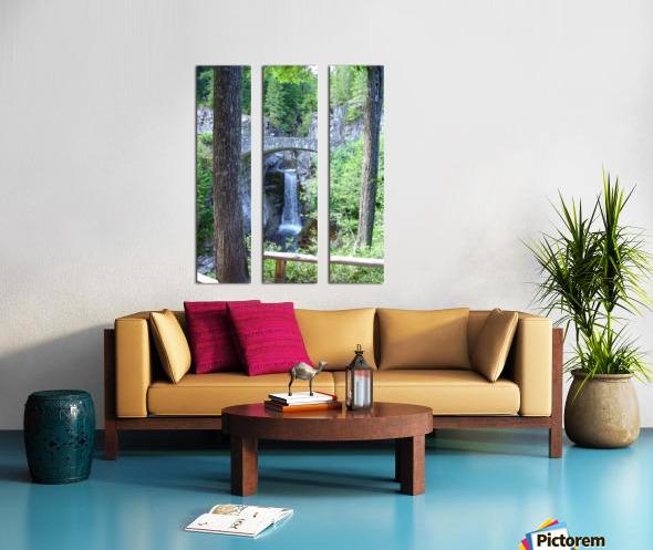 Christine Falls at Mount Rainier Pacific Northwest Split Canvas print