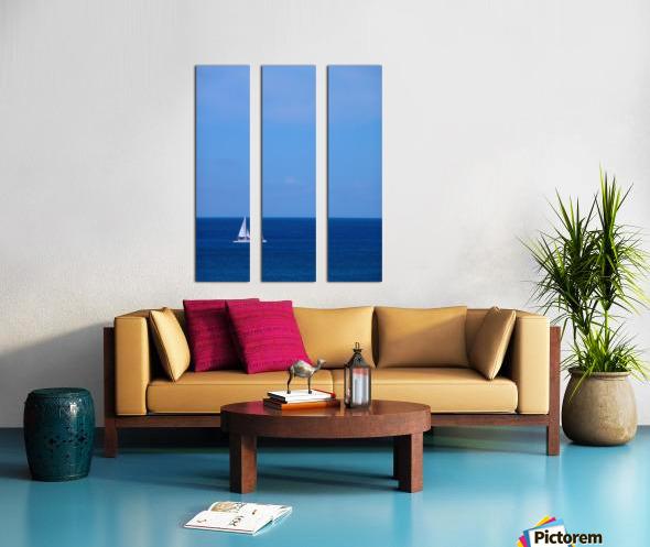 Blue Day Split Canvas print