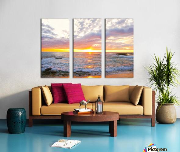 Golden Rays Across the Bay Split Canvas print