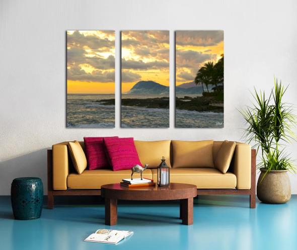 Beautiful Hawaii Split Canvas print