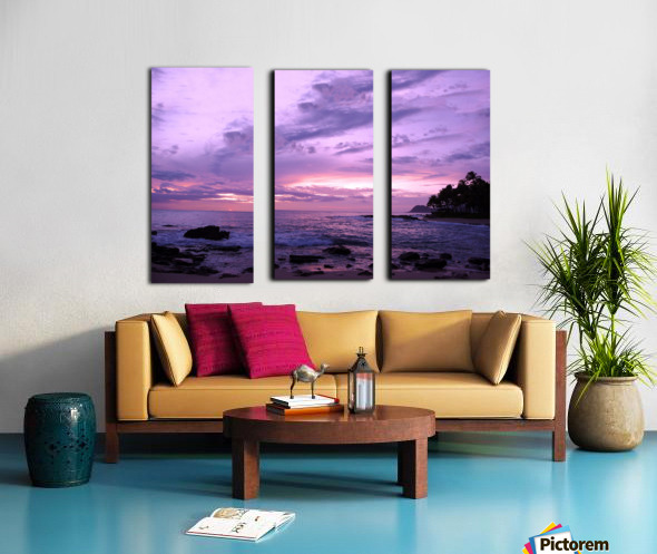 Purple Skies Over Hawaii Split Canvas print