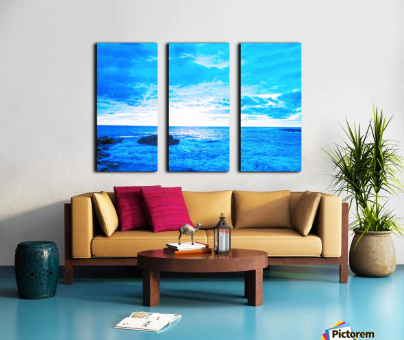 Blue World Split Canvas print