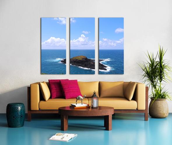 Secret Island Split Canvas print