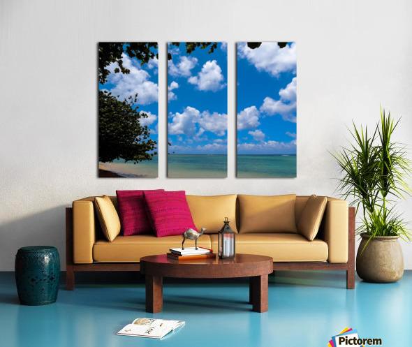 Turquoise Waters & Blue Skies Split Canvas print