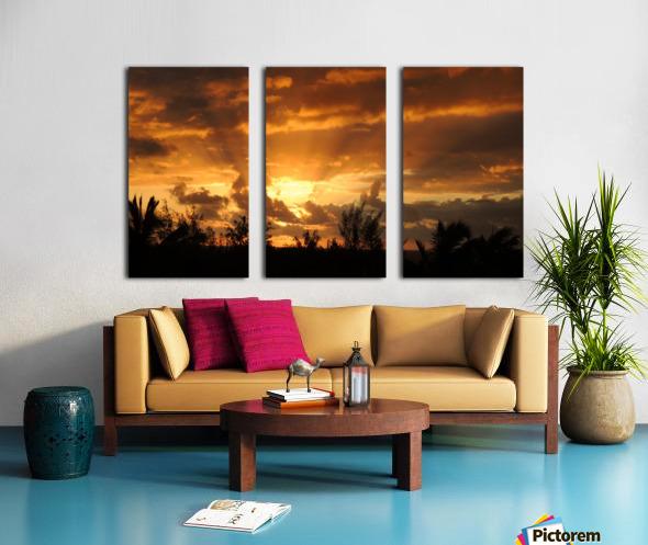 Golden Heavens Split Canvas print