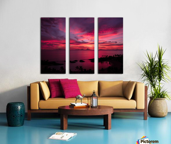 Bliss One - Pink and Purple Kissed Skies Over Hawaii Split Canvas print