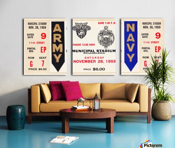 1959 Army Navy Game Ticket Split Canvas print