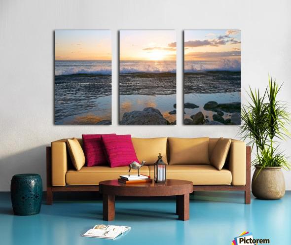 Reflections at the Sea Shore Split Canvas print