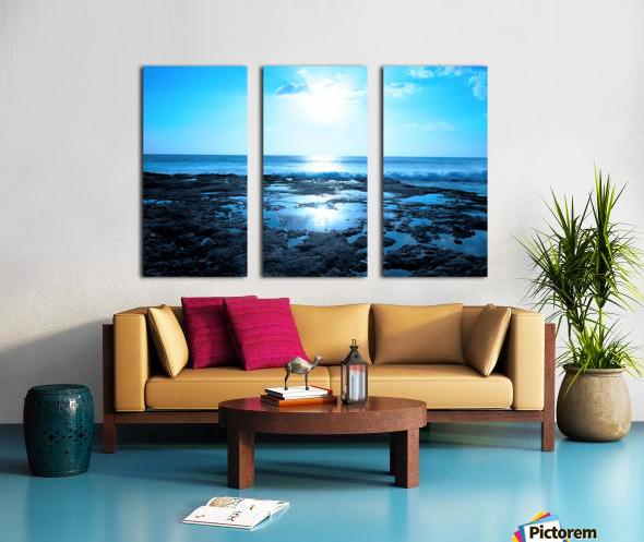 Blue Split Canvas print