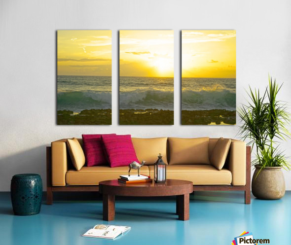 Waves at Sunset Split Canvas print