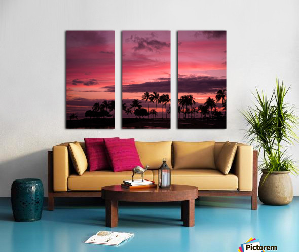 Ease into the Night Split Canvas print