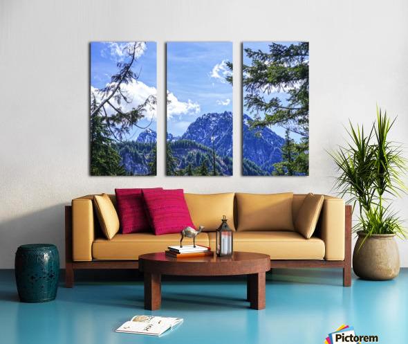 The Cascades Split Canvas print