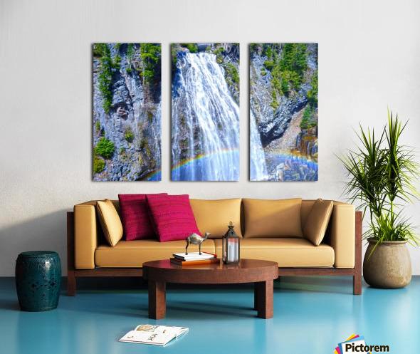 Rainbow Falls Rainier Split Canvas print