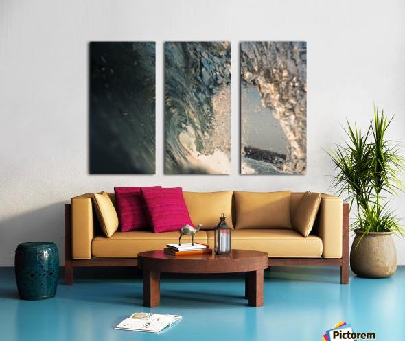 Crystal wave Split Canvas print