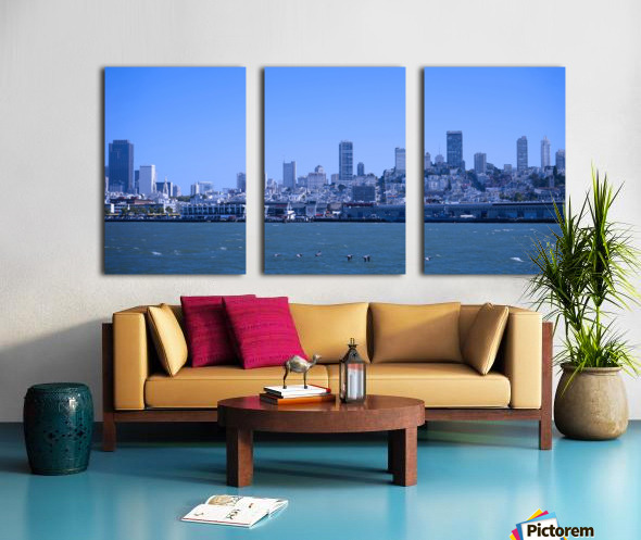 Blue Skies over San Francisco  Split Canvas print