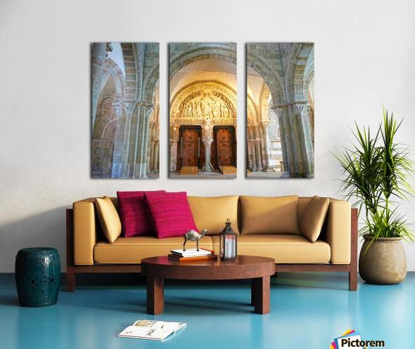 Basilica of Sainte Marie Madeleine 3 of 5 @  Vezelay France Split Canvas print