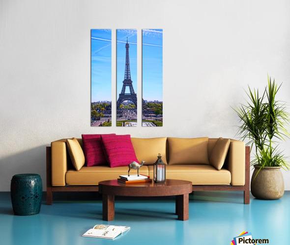 Majestic Eiffel Split Canvas print