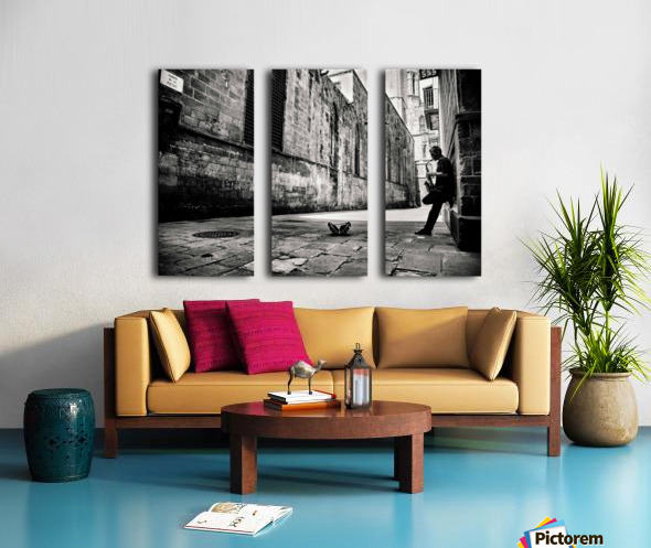 Silent Street Split Canvas print