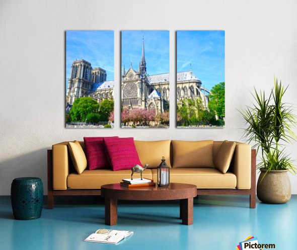 Notre Dame @ Paris Split Canvas print